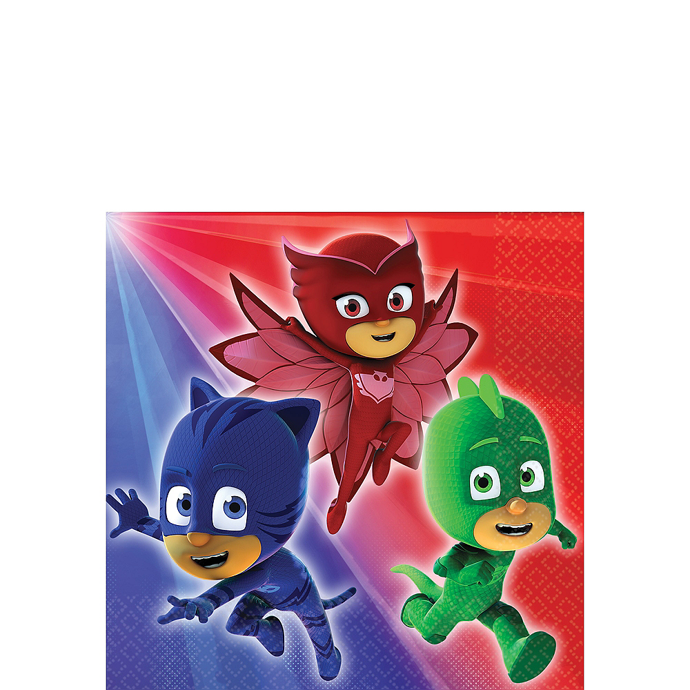 PJ Masks Beverage Napkins 16ct Image #1