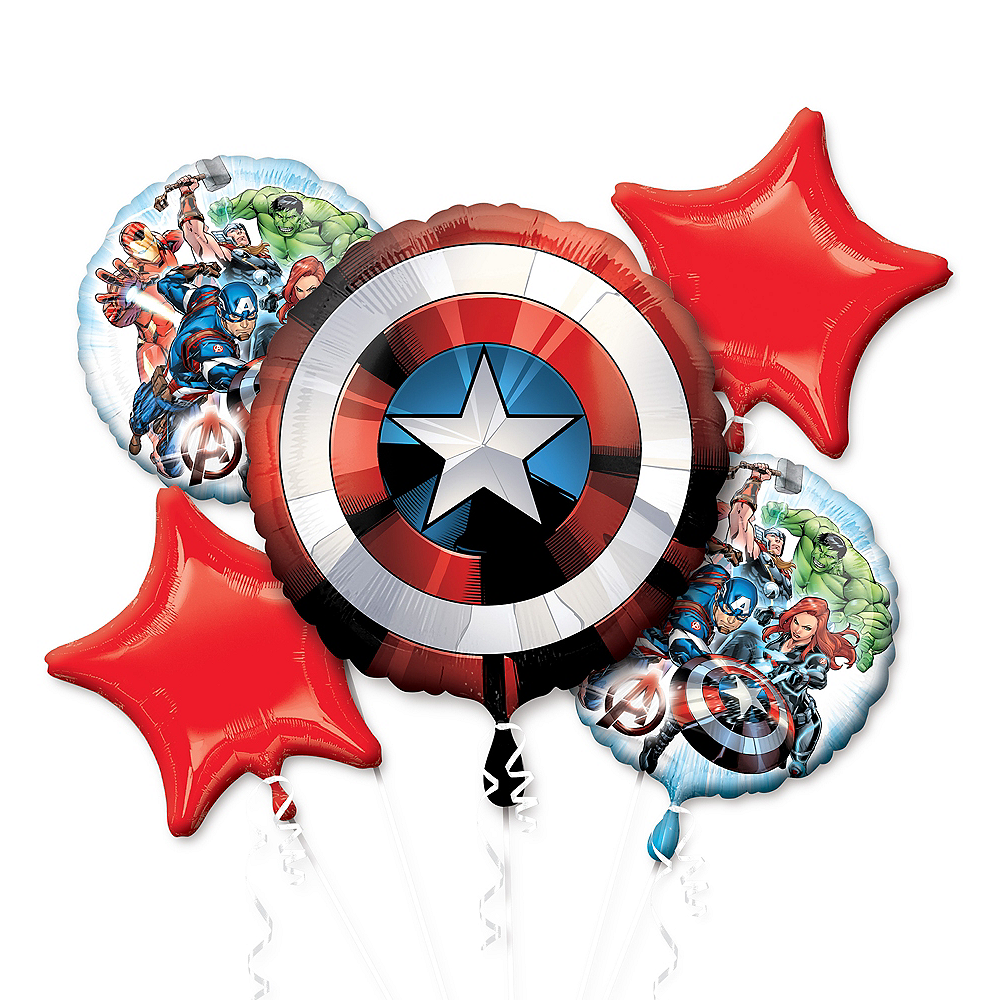 Nav Item for Avengers Balloon Bouquet 5pc Image #1