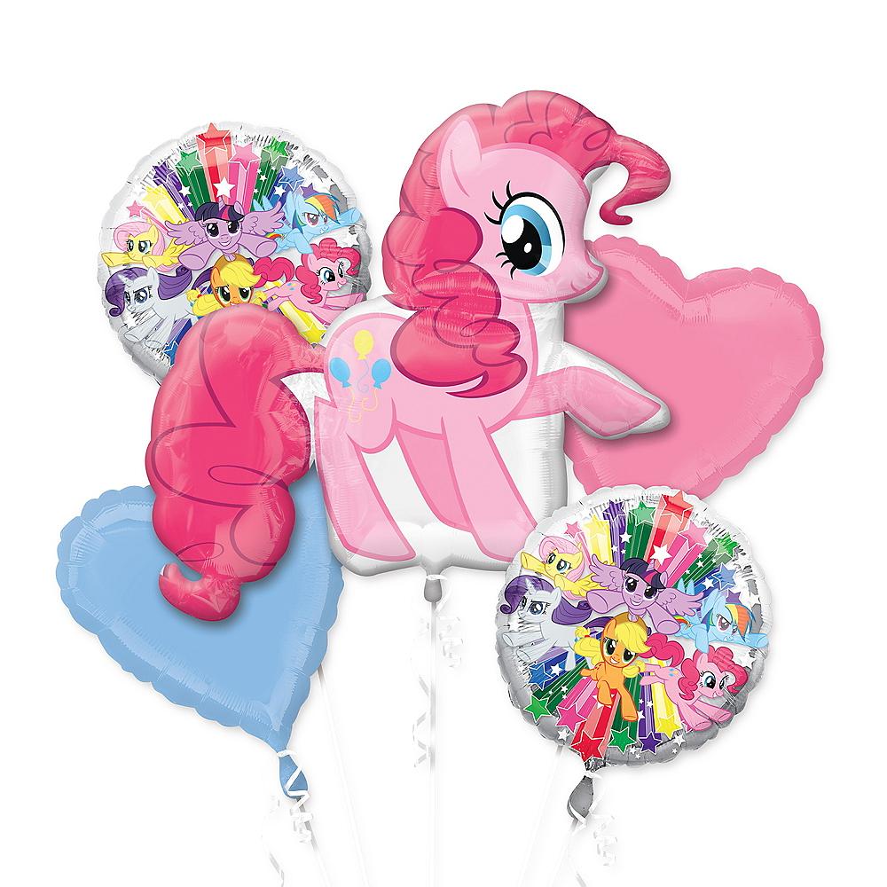 Giant Pinkie Pie Balloon Bouquet 5pc - My Little Pony Image #1