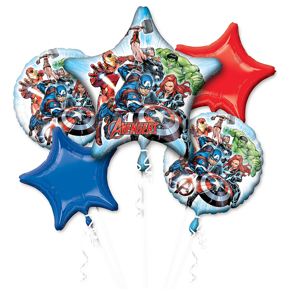 Avengers Balloon Bouquet 5pc Image #1