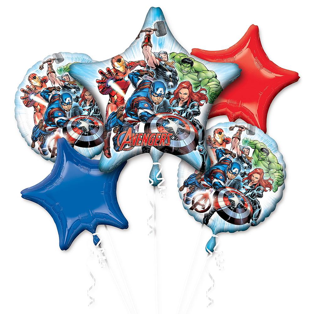 Avengers Balloon Bouquet 5pc Image #1