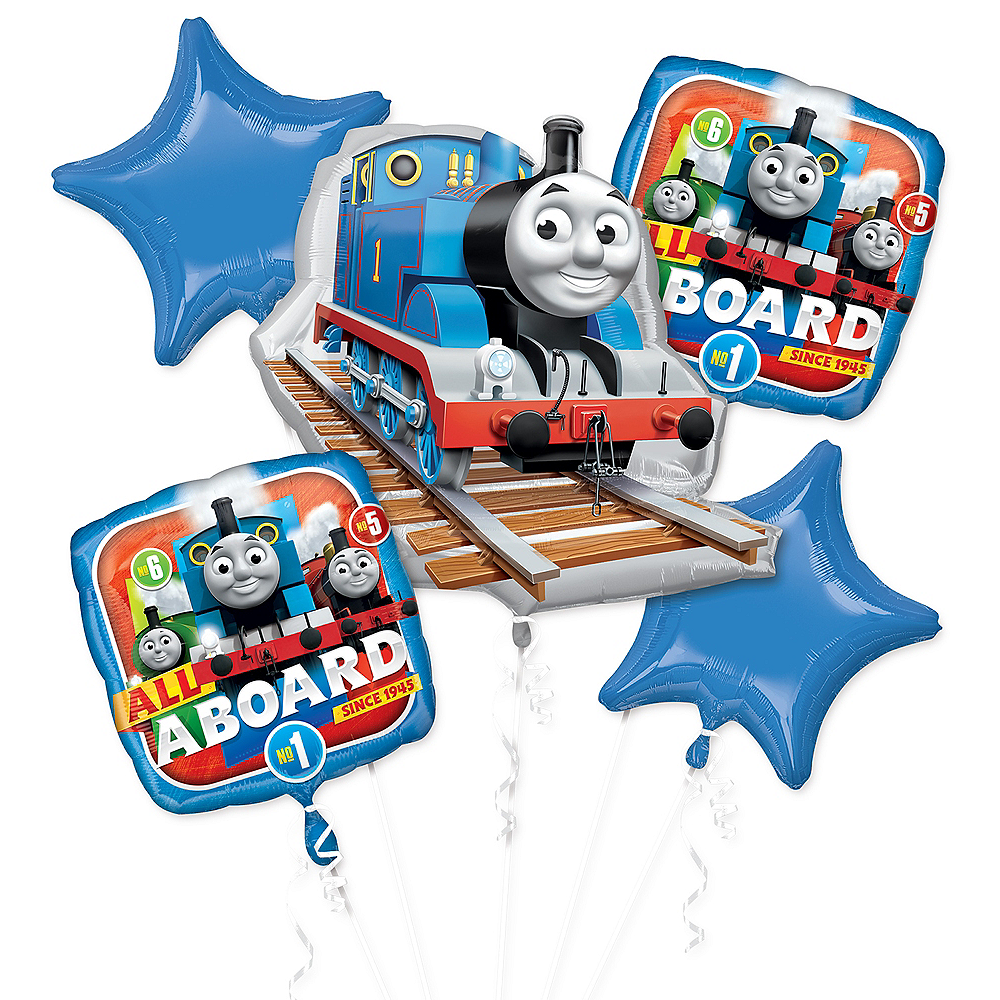 Nav Item for Thomas the Tank Engine Balloon Bouquet 5pc Image #1
