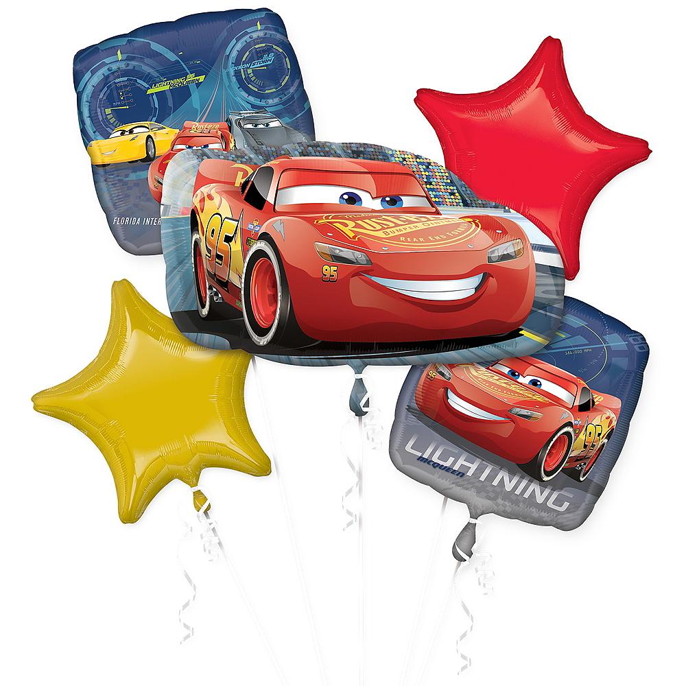 Cars Balloon Bouquet 5pc Image #1