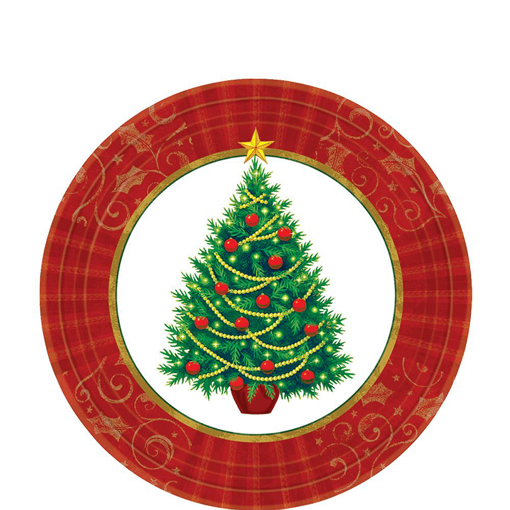 Twinkling Christmas Tree Tableware Kit for 50 Guests Image #2