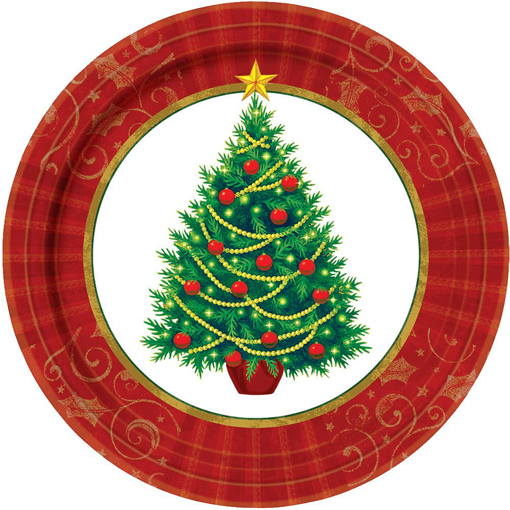 Twinkling Christmas Tree Tableware Kit for 50 Guests Image #3
