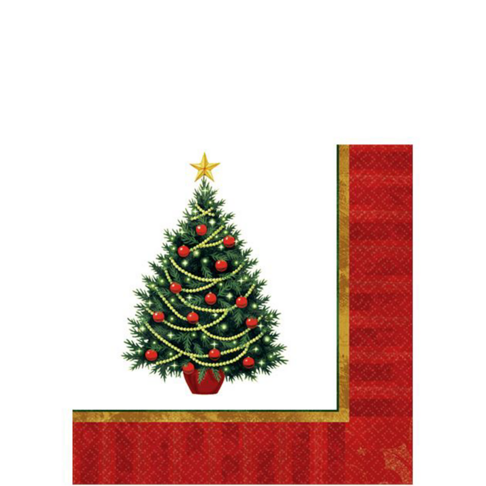 Twinkling Christmas Tree Tableware Kit for 50 Guests Image #4