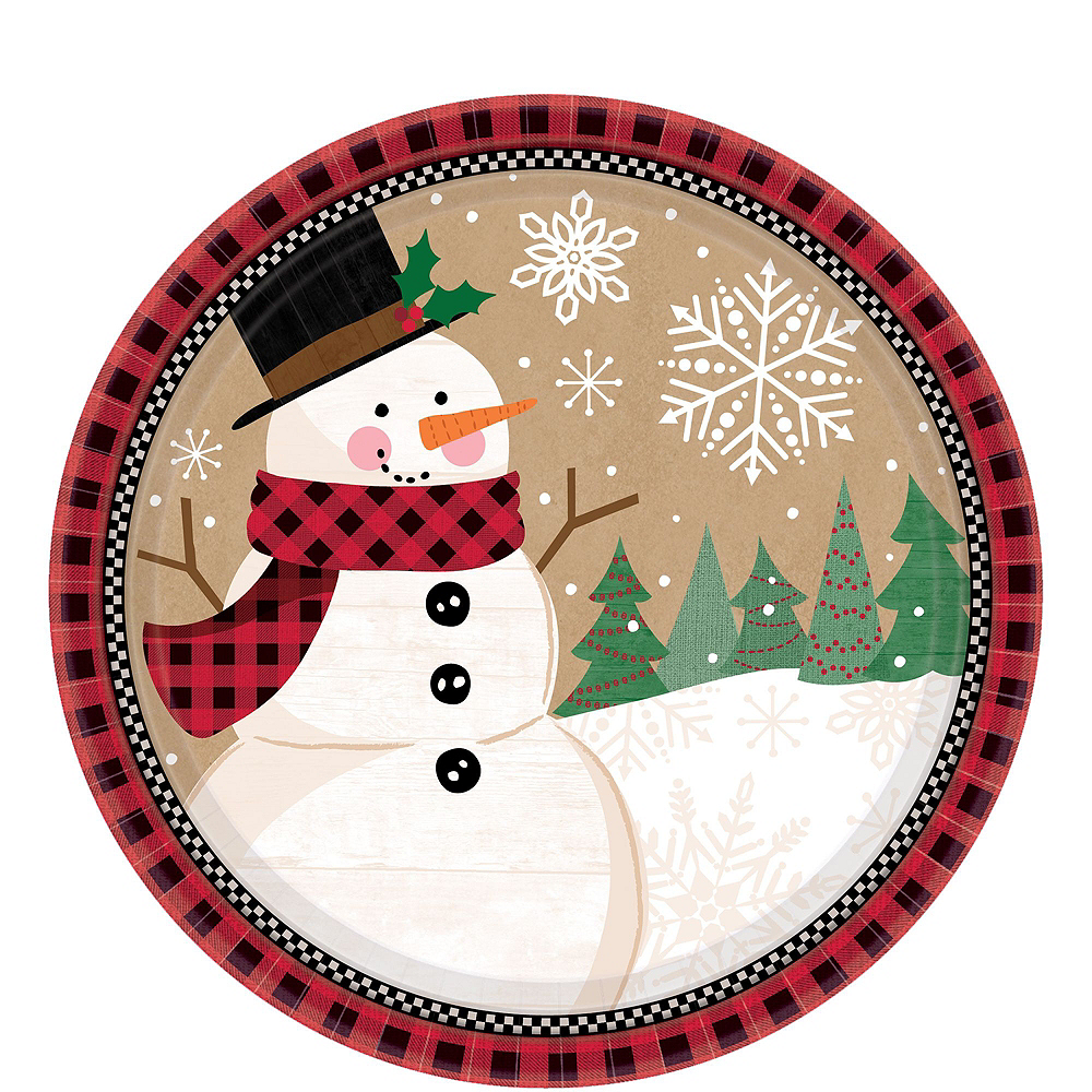 Winter Wonder Snowman Tableware Kit for 16 Guests Image #2