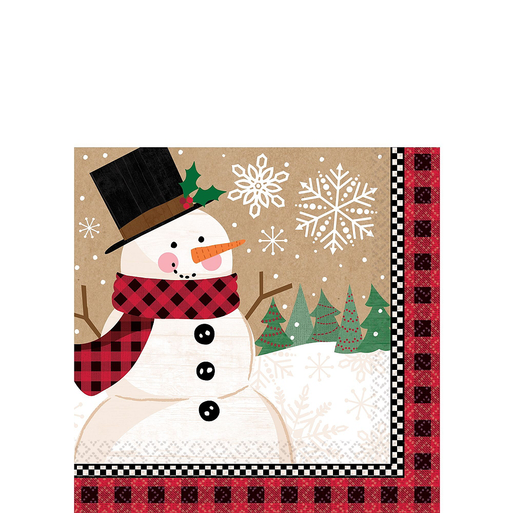 Winter Wonder Snowman Tableware Kit for 16 Guests Image #4