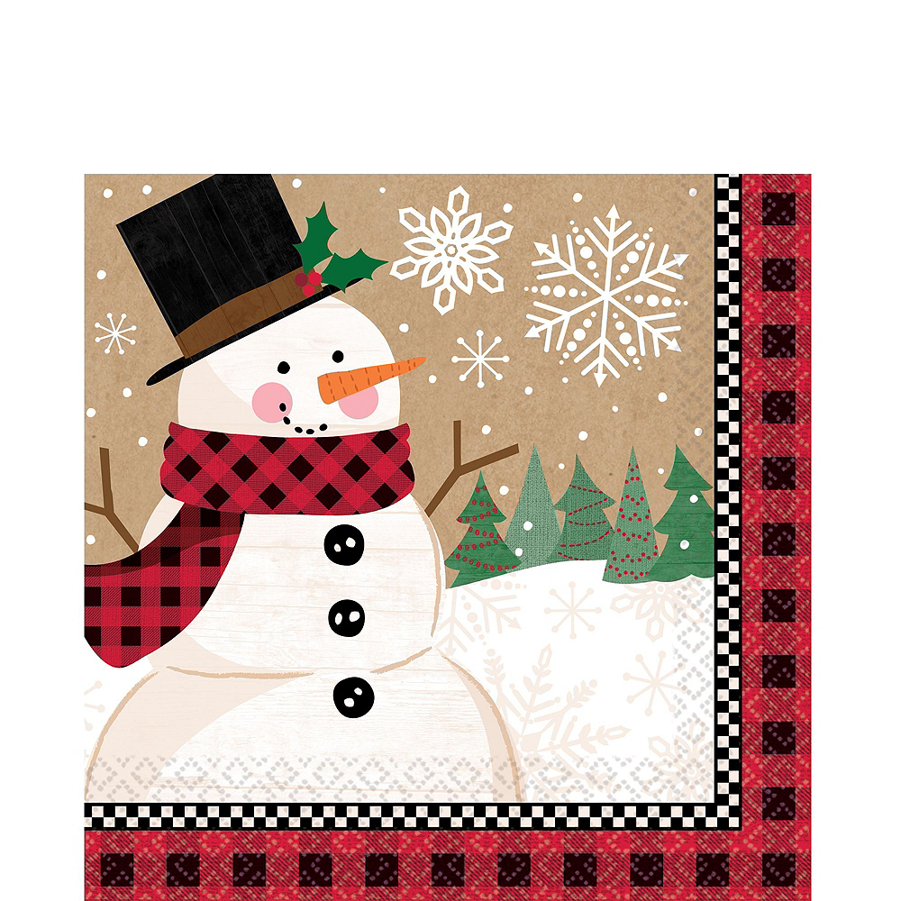 Winter Wonder Snowman Tableware Kit for 16 Guests Image #5