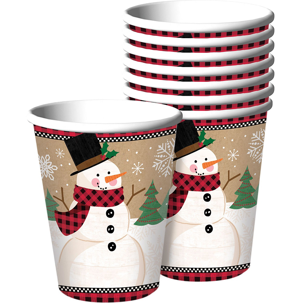 Winter Wonder Snowman Tableware Kit for 16 Guests Image #6