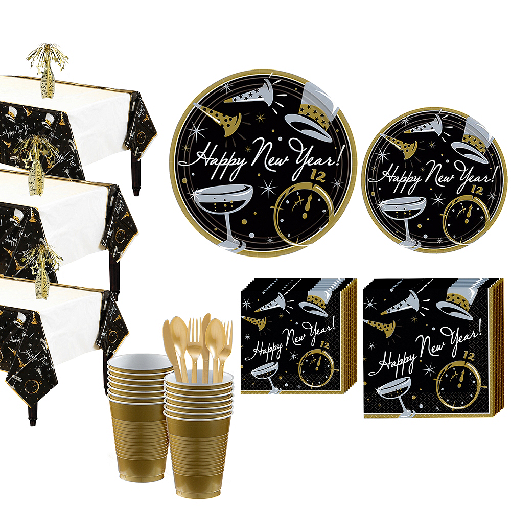 Black Tie Affair Deluxe Tableware Kit for 50 guests Image #1
