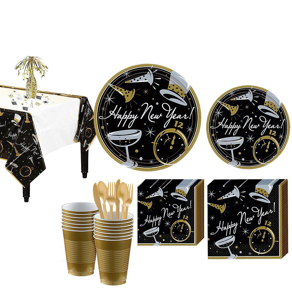 Black Tie Affair Ultimate Tableware Kit for 100 Guests Image #1
