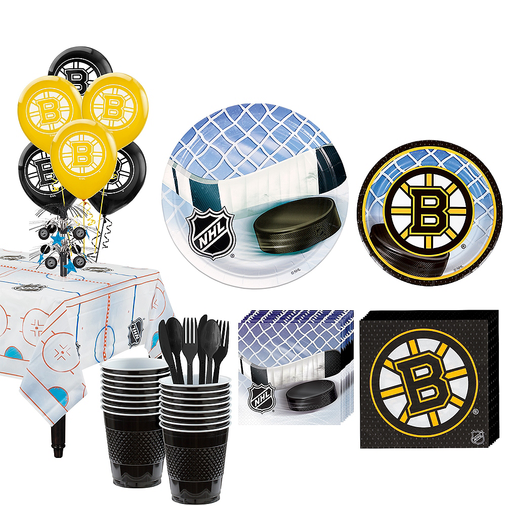 Super Boston Bruins Party Kit for 16 Guests Image #1