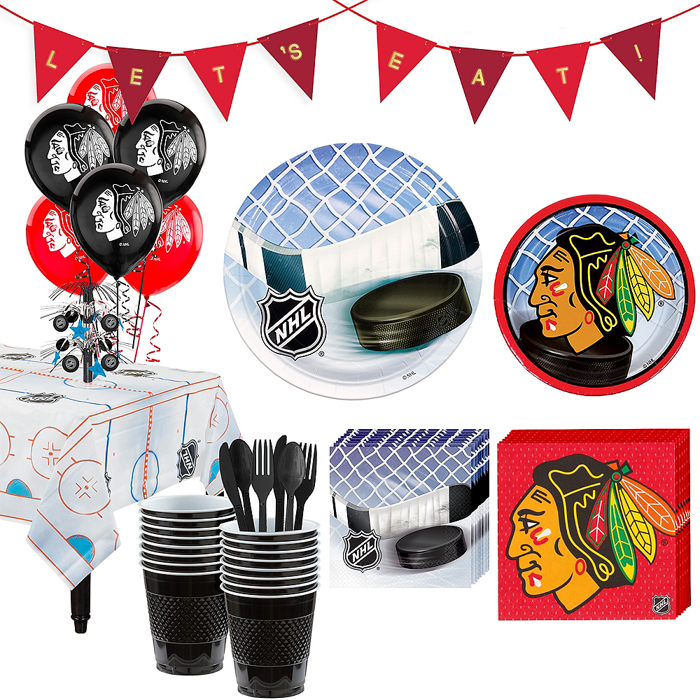 Nav Item for Super Chicago Blackhawks Party Kit for 16 Guests Image #1