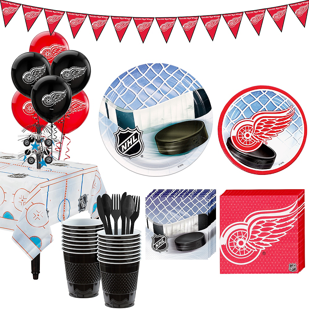 Super Detroit Red Wings Party Kit for 16 Guests Image #1