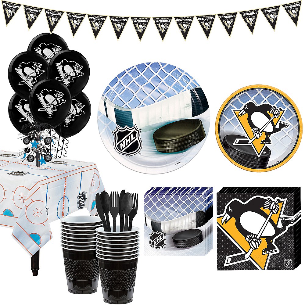 Super Pittsburgh Penguins Party Kit for 16 Guests Image #1