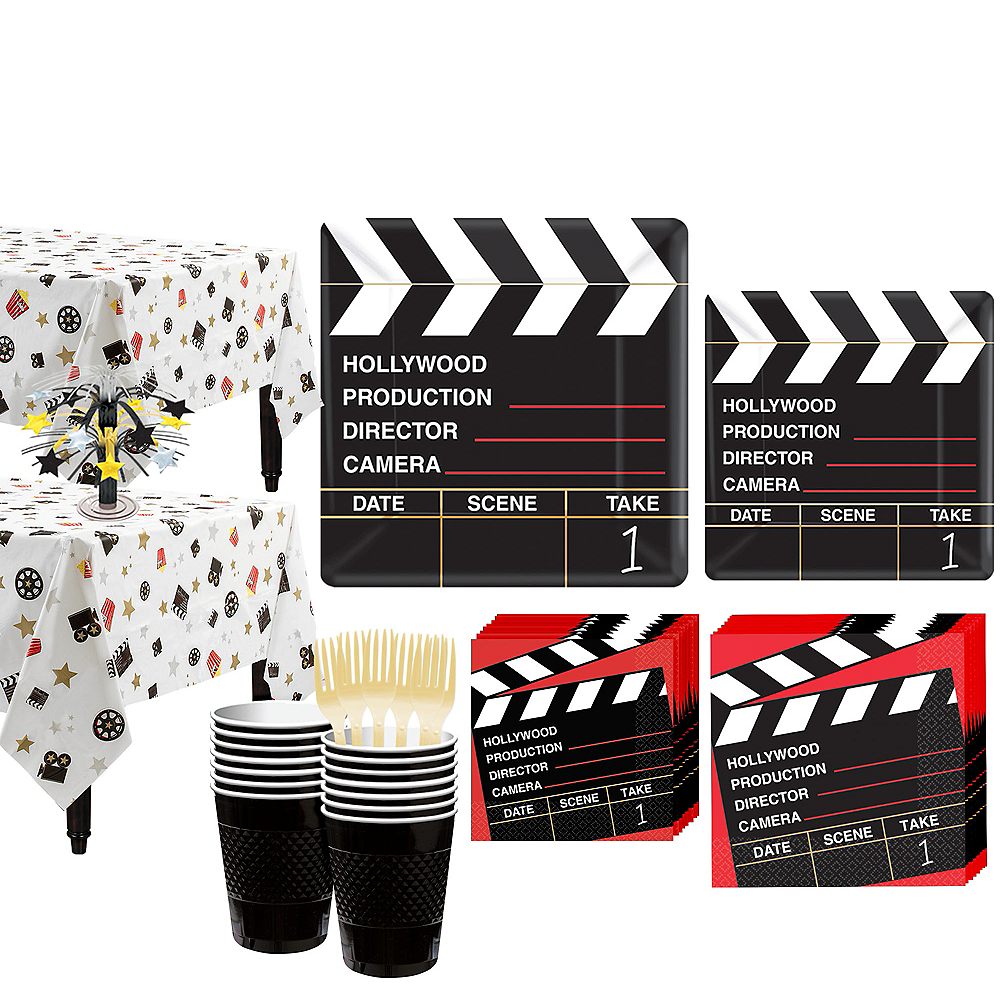 Clapboard Hollywood Tableware Kit for 32 Guests Image #1