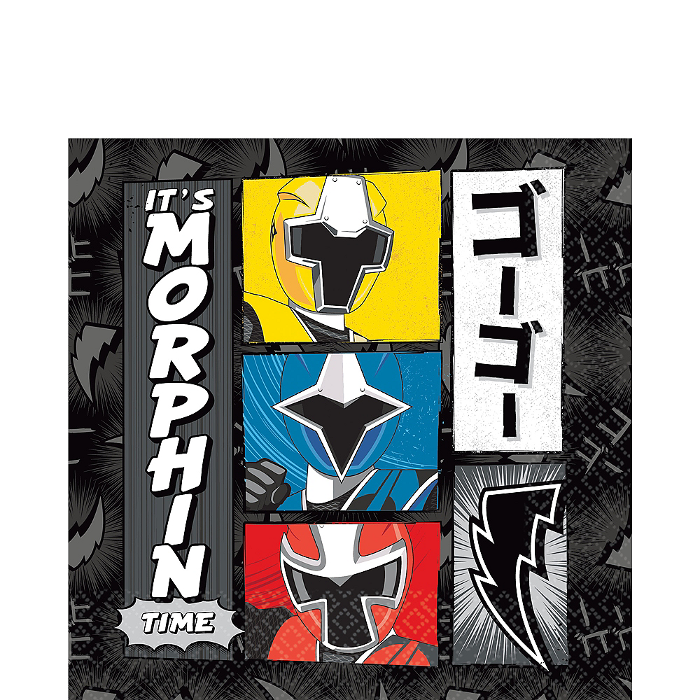 Power Rangers Ninja Steel Lunch Napkins 16ct Image #1