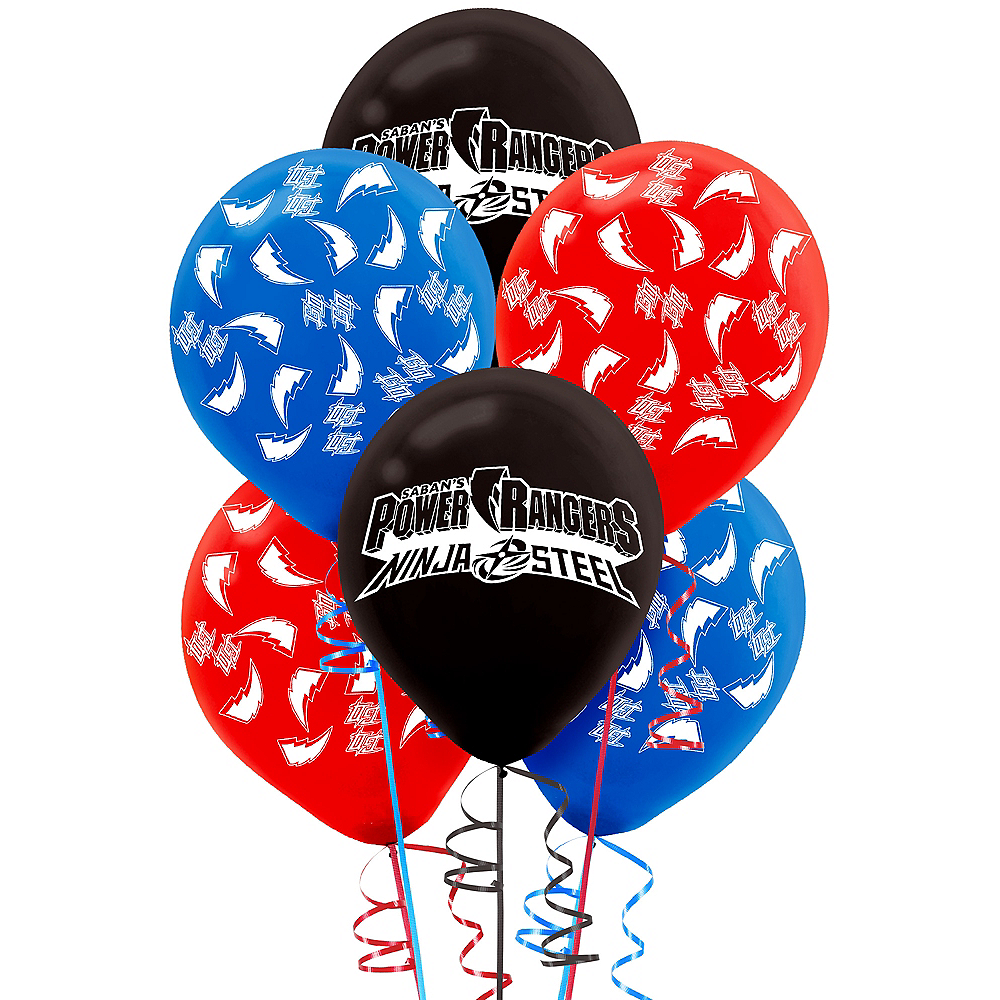 Power Rangers Ninja Steel Balloons 6ct Image #1