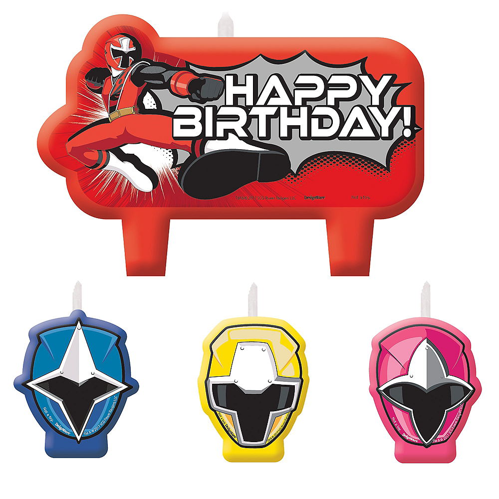 Nav Item for Power Rangers Ninja Steel Birthday Candles 4ct Image #1