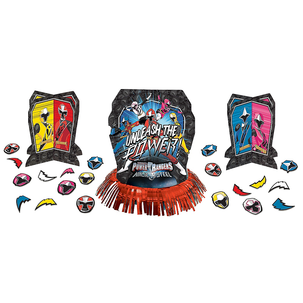 Power Rangers Ninja Steel Table Decorating Kit 23pc Image #1
