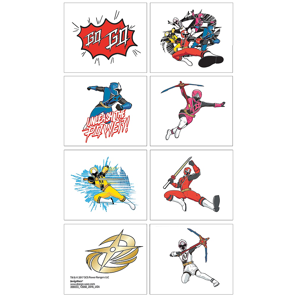Power Rangers Ninja Steel Tattoos 1 Sheet Image #1