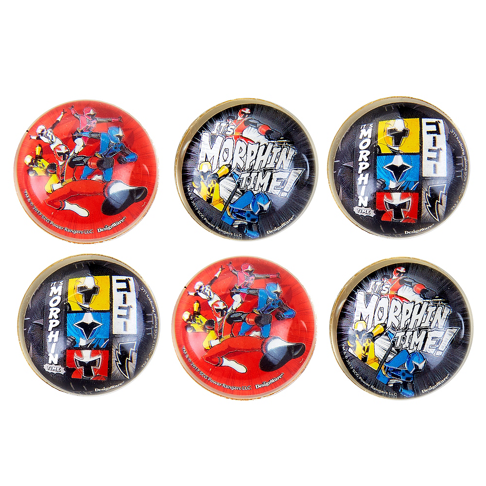 Power Rangers Ninja Steel Bounce Balls 6ct Image #1