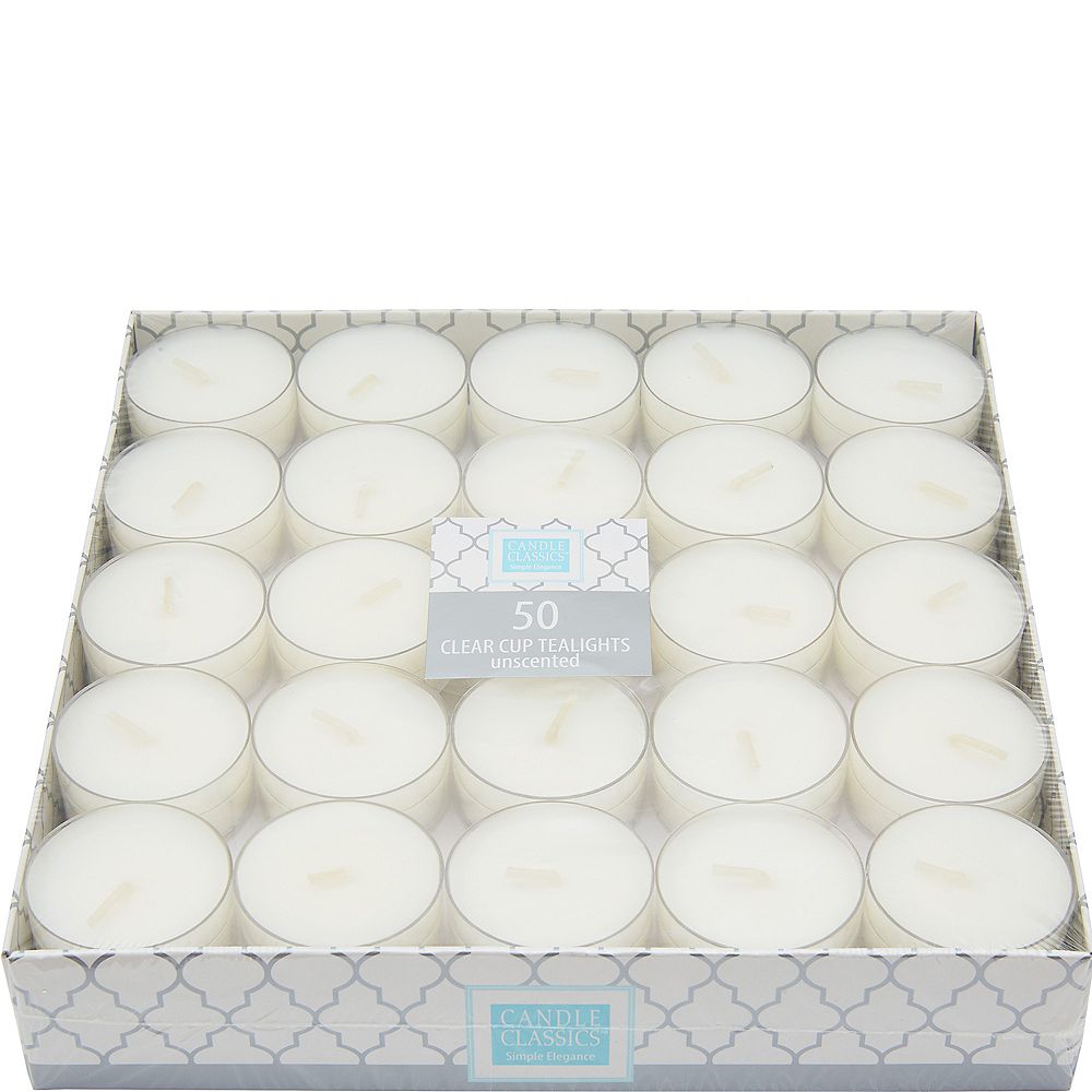 Pure White Tealight Candles 50ct Image #1