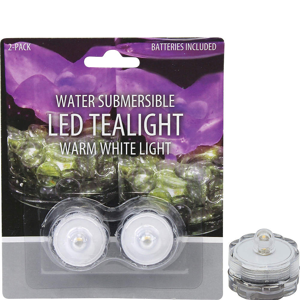 Submersible Tealight Flameless LED Candles 2ct Image #1