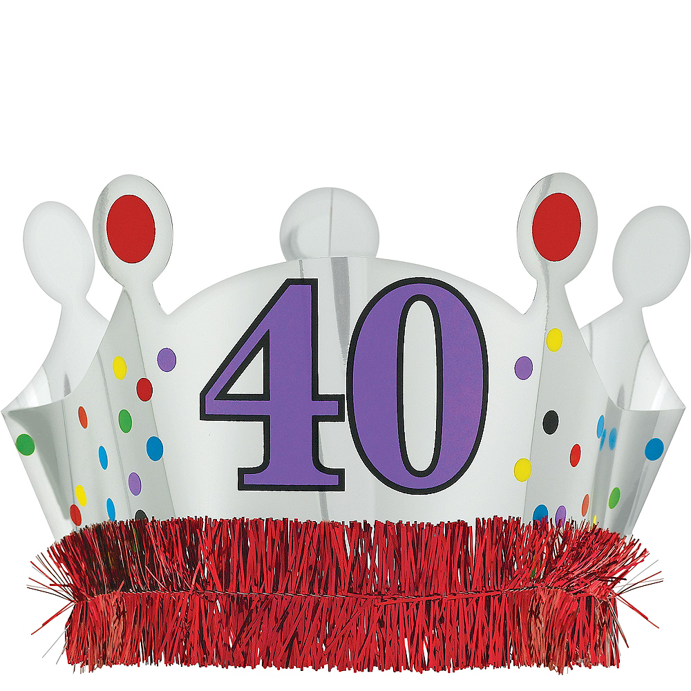 40th Birthday Crown 8in X 5 1 2in