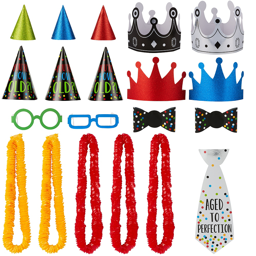 Milestone Birthday Wearable Photo Booth Props 20ct Image #1