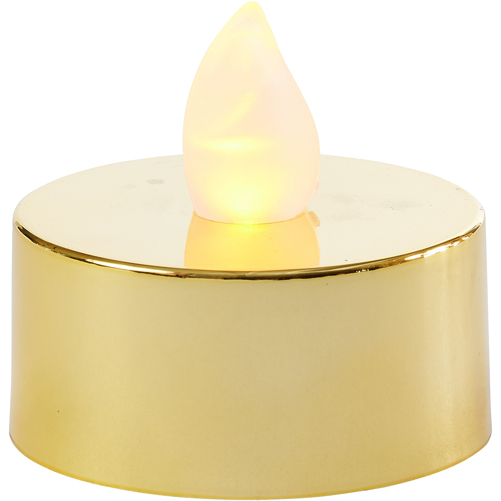 Metallic Gold Tealight Flameless LED Candles 18ct Image #3