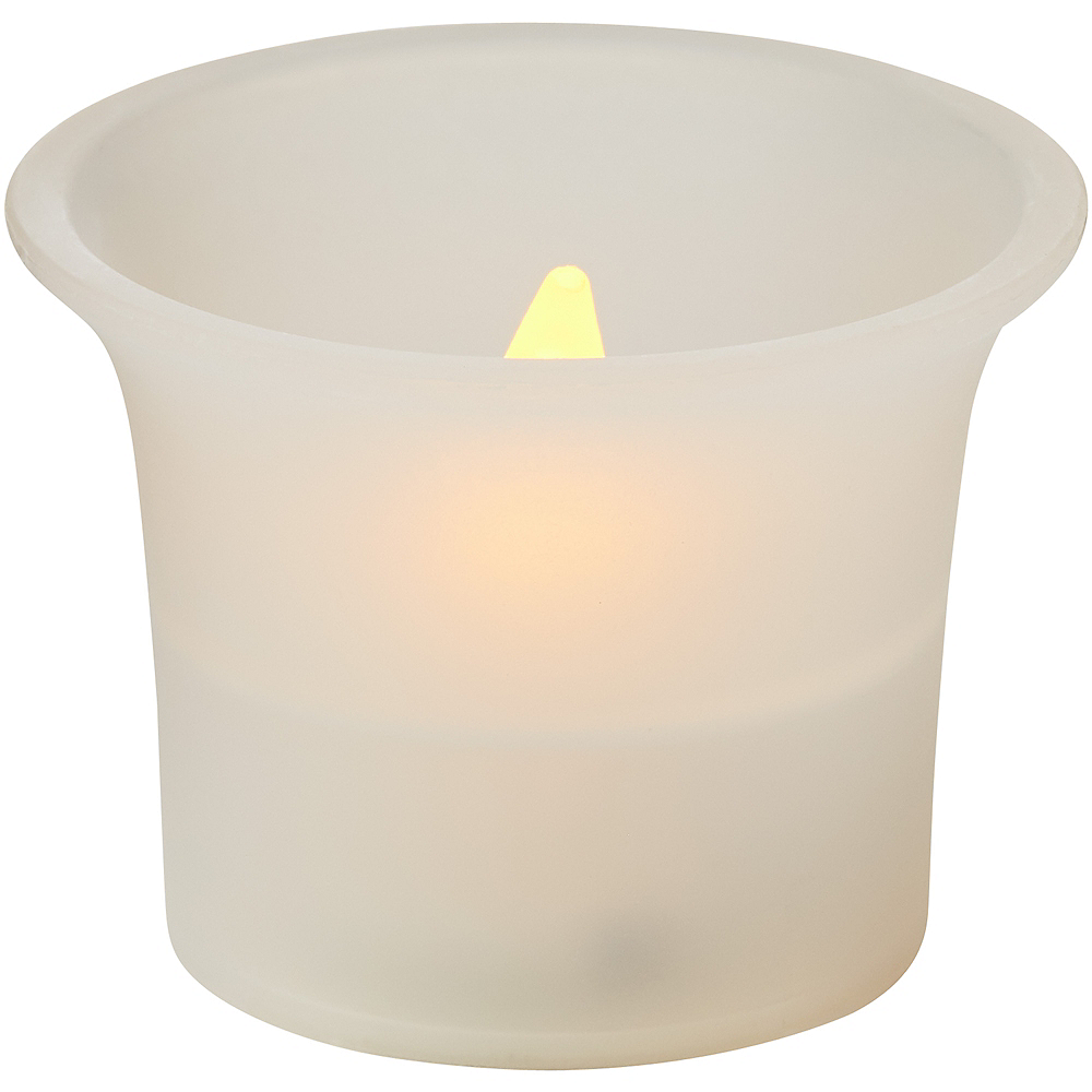 White Flared Votive Flameless LED Candles 6ct Image #2