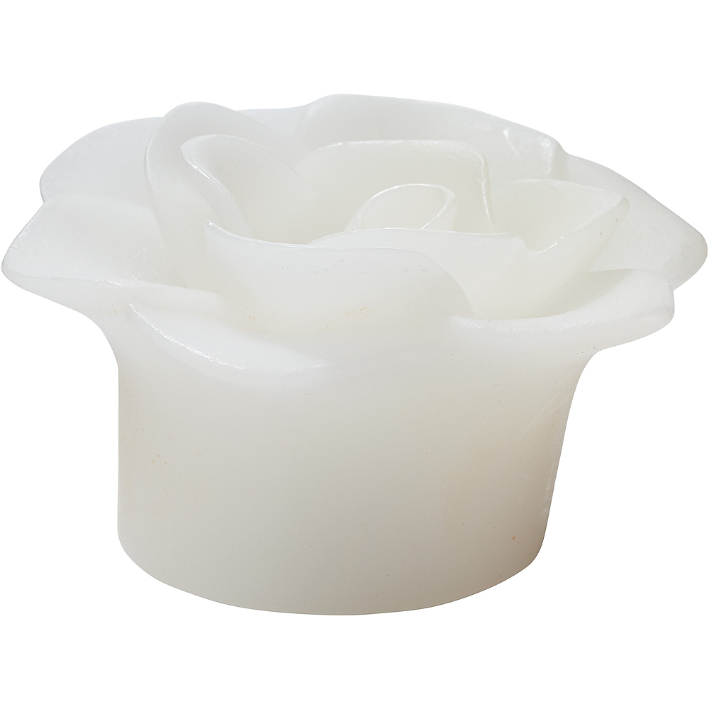 White Floating Flower Water-Activated Flameless LED Candles 2ct Image #2