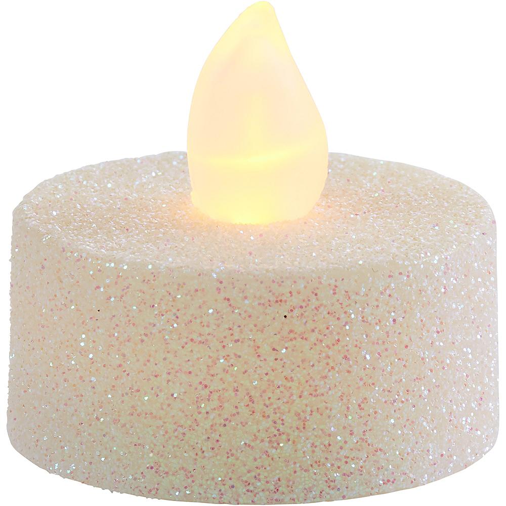 Glitter Iridescent Tealight Flameless LED Candles 10ct Image #2