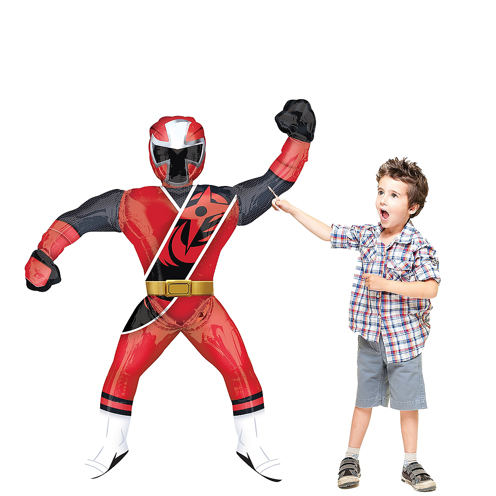 Giant Gliding Red Power Ranger Balloon, 67in Image #1