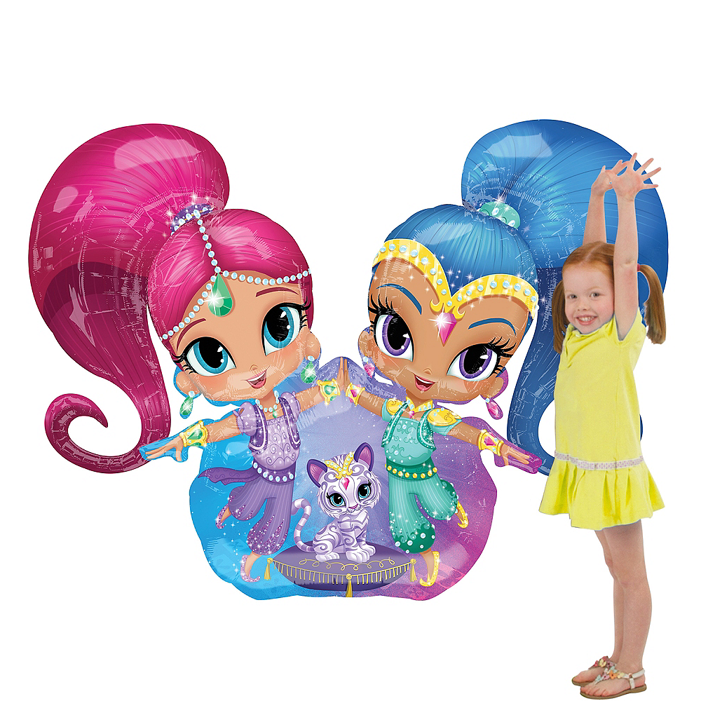 Giant Gliding Shimmer and Shine Balloon, 44in Image #1