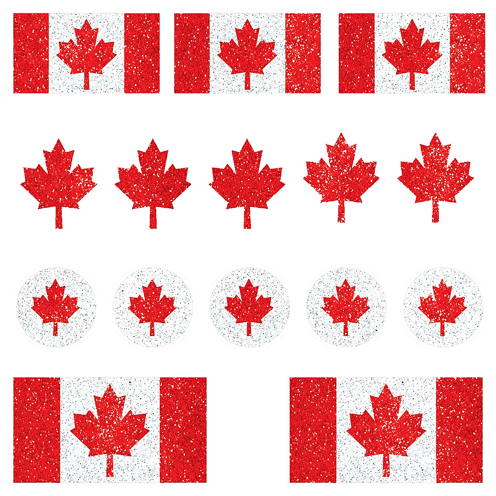 Canadian Flag Body Jewelry 15ct Image #1