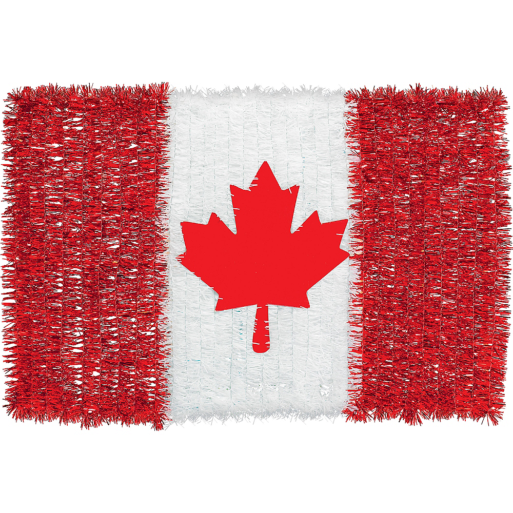 Tinsel Canadian Flag Sign Image #1