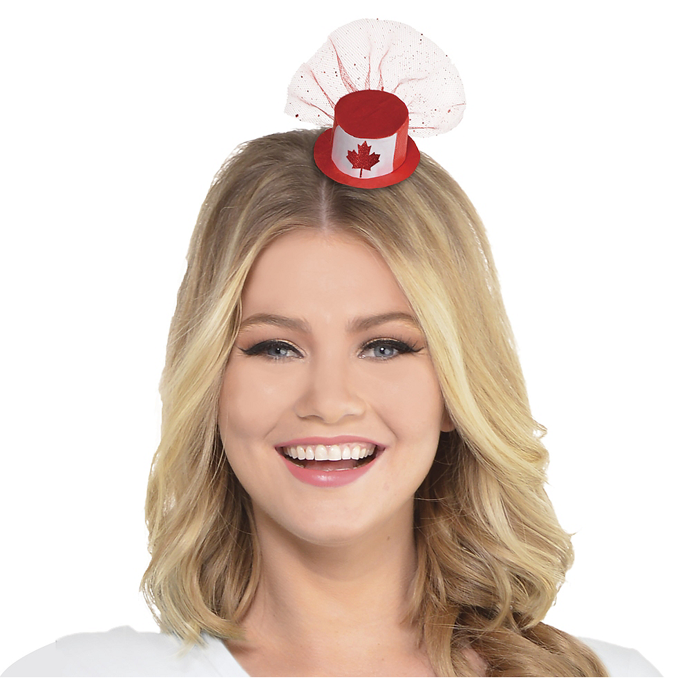 Mini Canadian Maple Leaf Top Hat Hair Clip Image #1