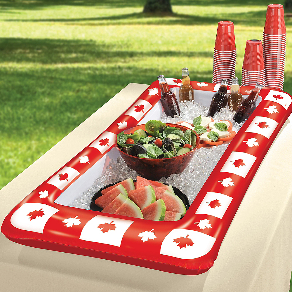 Inflatable Canadian Maple Leaf Buffet Cooler Image #2