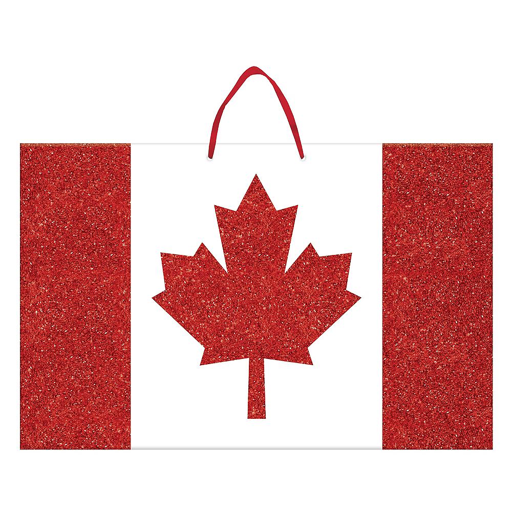 Glitter Canadian Flag Sign Image #1