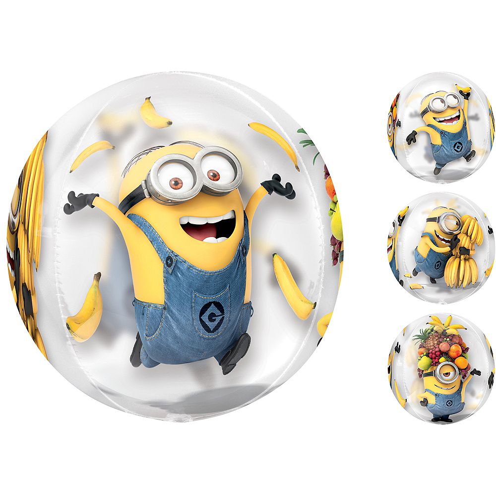 Minions Balloon - See Thru Orbz, 16in Image #1