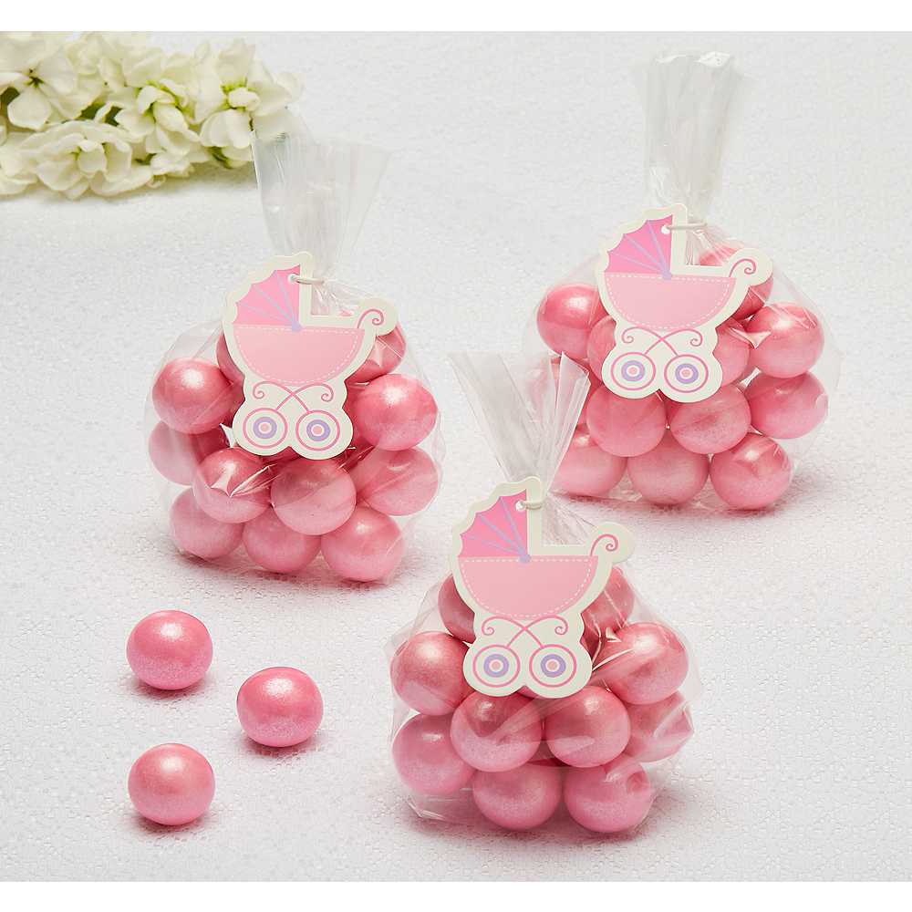Pink Stroller Baby Shower Favor Tags 25ct Image #1