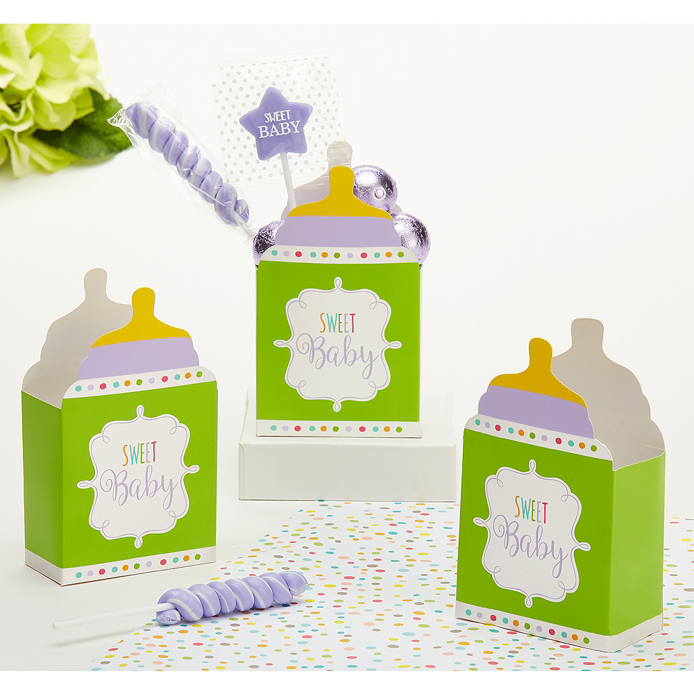 Gender Neutral Baby Shower Favor Boxes 24ct Party City Canada