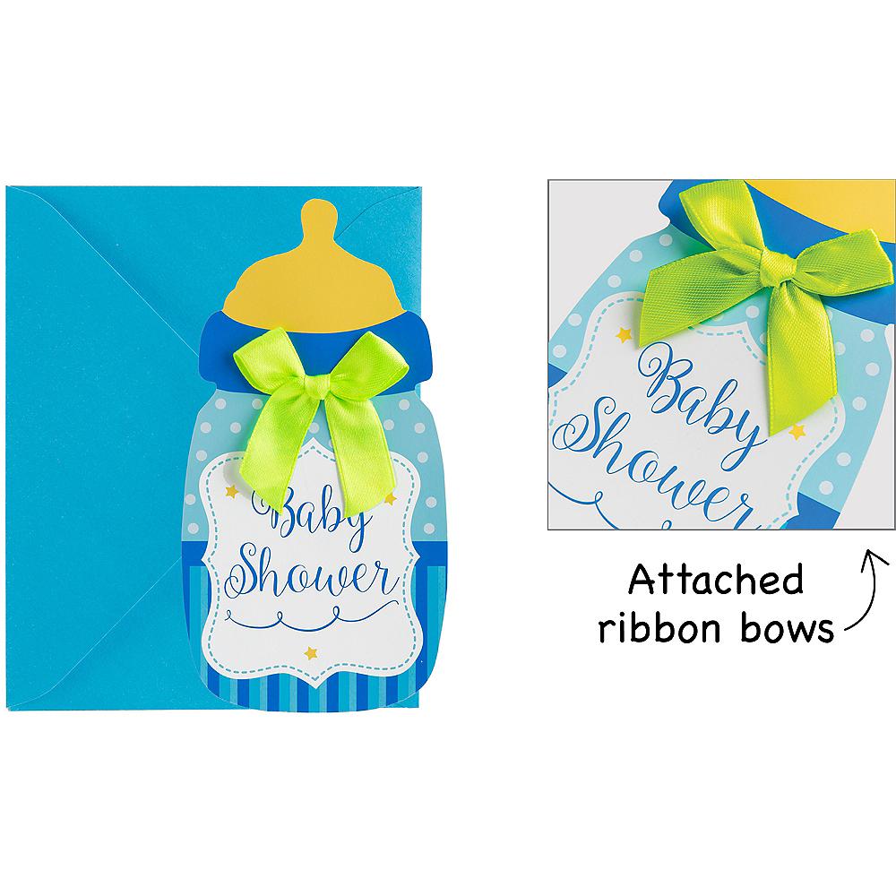 Premium Blue Bottle Baby Shower Invitations 8ct Party City