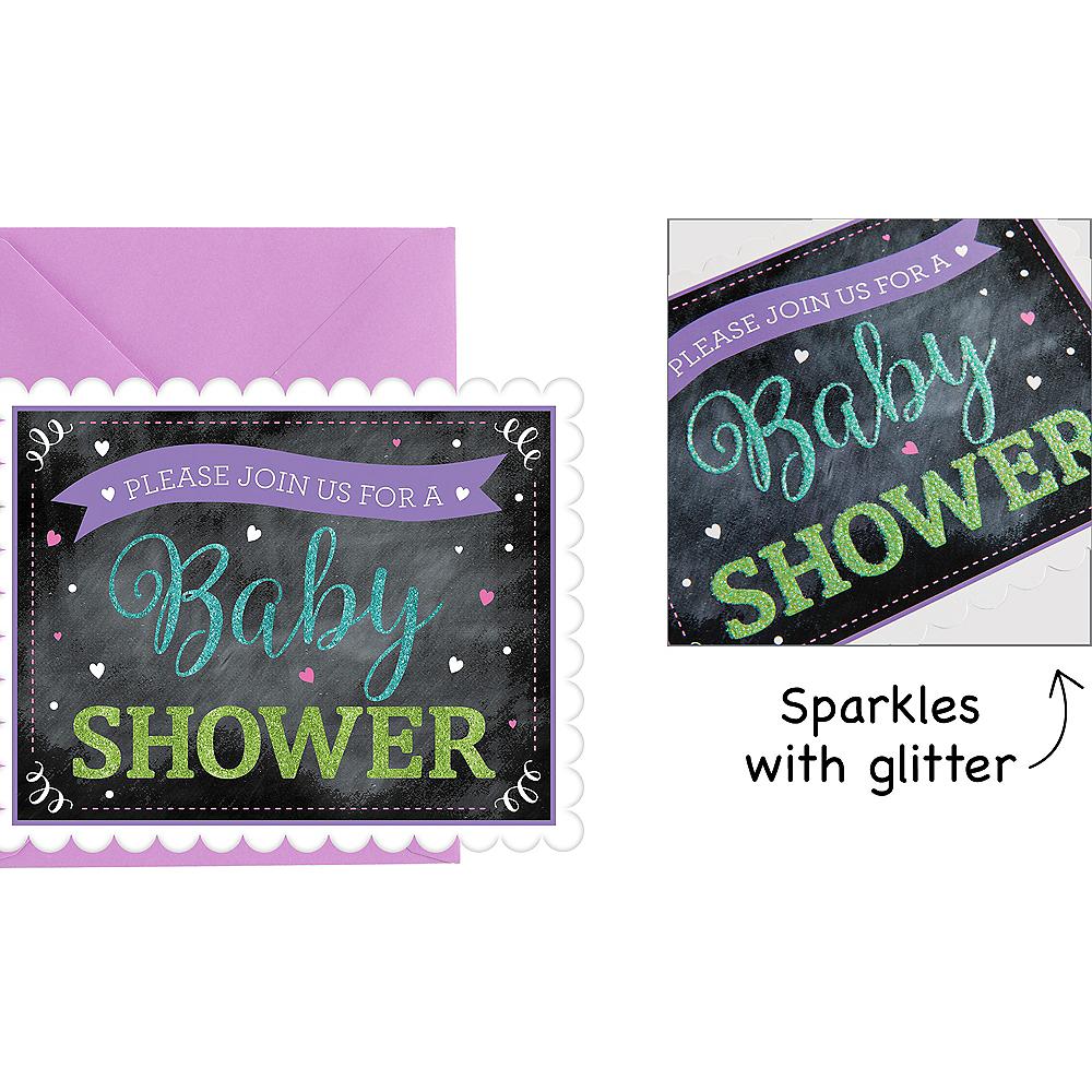 Premium chalkboard baby shower invitations 8ct party city nav item for premium chalkboard baby shower invitations 8ct image 1 filmwisefo