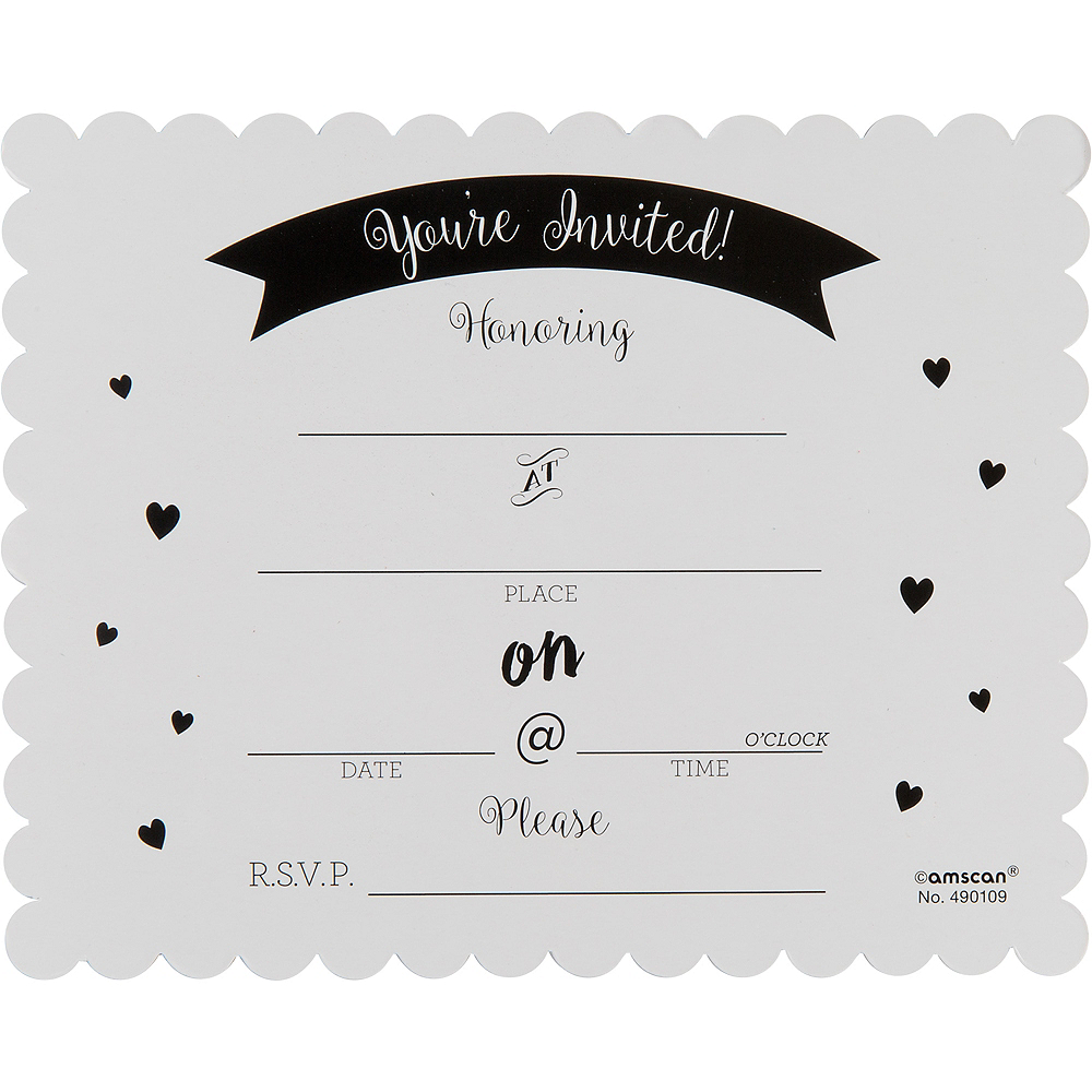 Chalkboard Baby Shower Invitations 8ct