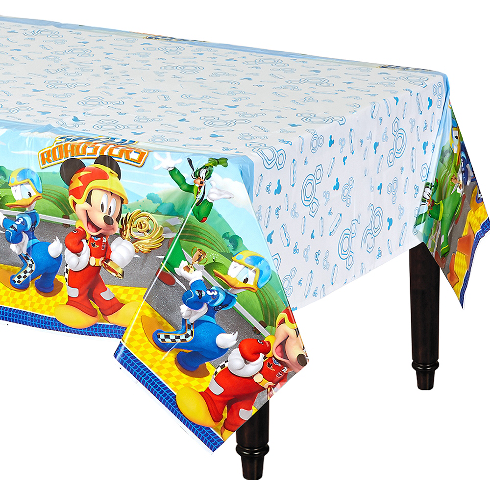 0359f4eb653 Mickey Mouse Roadster Table Cover 54in x 96in
