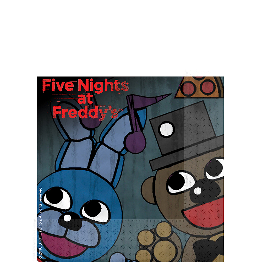 Five Nights at Freddy's Beverage Napkins 16ct Image #1